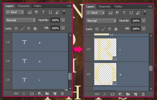Vintage Tiles Text Effect step 2
