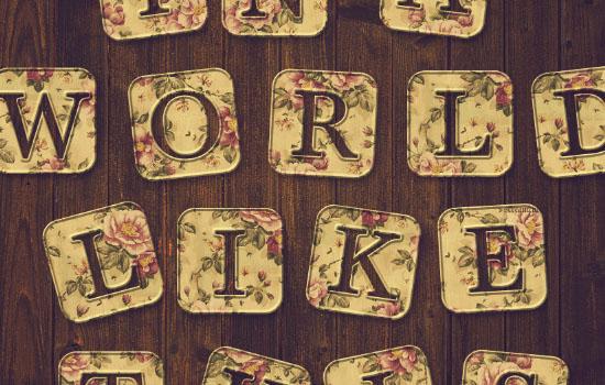 Vintage Tiles Text Effect step 5