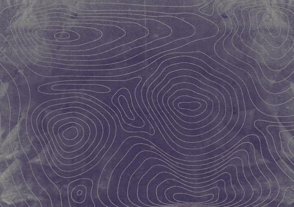 Vector contour map effect