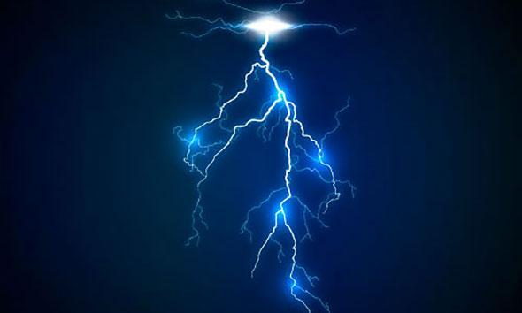 Lightning bolt effect