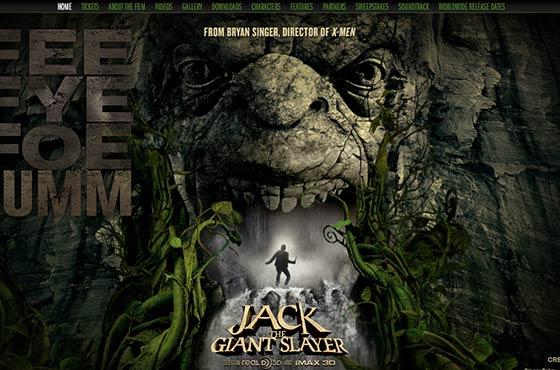 Image vs. Video Background in Web Design - Jack The Giant Slayer Movie