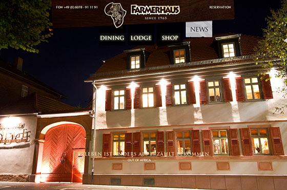 Image vs. Video Background in Web Design - Farmerhaus Restaurant Website