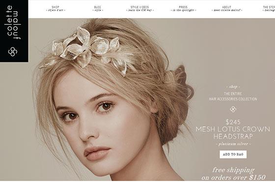 Image vs. Video Background in Web Design - Colette Malouf Online Shop