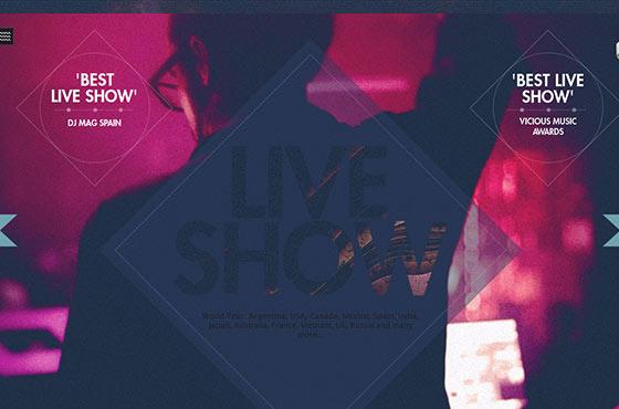 Image vs. Video Background in Web Design - Electronic Music ArtistHenry Saiz