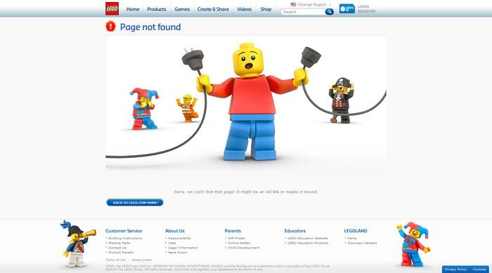 lego.com 404 error page