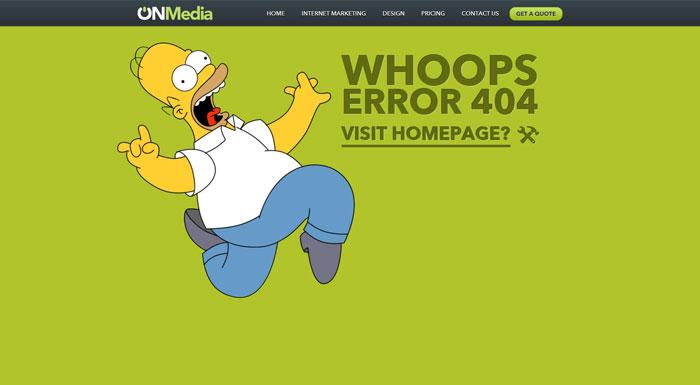 onsydney.com.au 404 error page