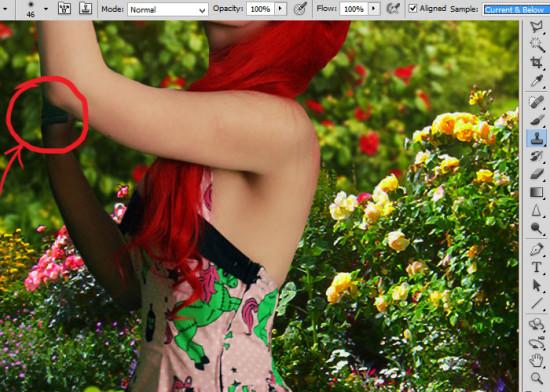 photo manip alice in wonderland 19 550x392 Create Photo Manipulation with Alice in Wonderland Theme in Photoshop