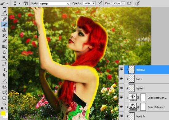 photo manip alice in wonderland 26 550x392 Create Photo Manipulation with Alice in Wonderland Theme in Photoshop
