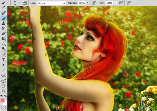 photo manip alice in wonderland 35 550x392 Create Photo Manipulation with Alice in Wonderland Theme in Photoshop