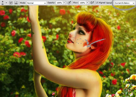 photo manip alice in wonderland 39 550x392 Create Photo Manipulation with Alice in Wonderland Theme in Photoshop
