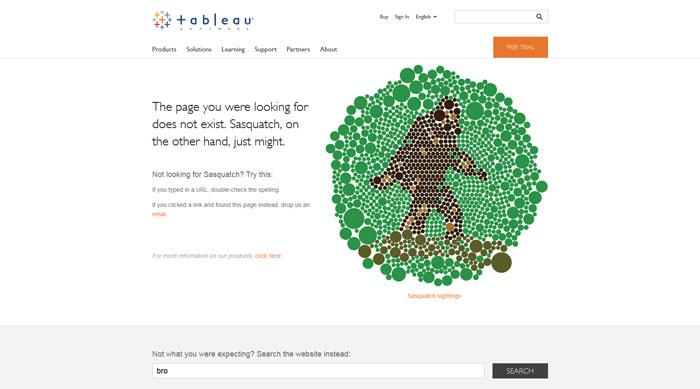 tableausoftware.com 404 error page
