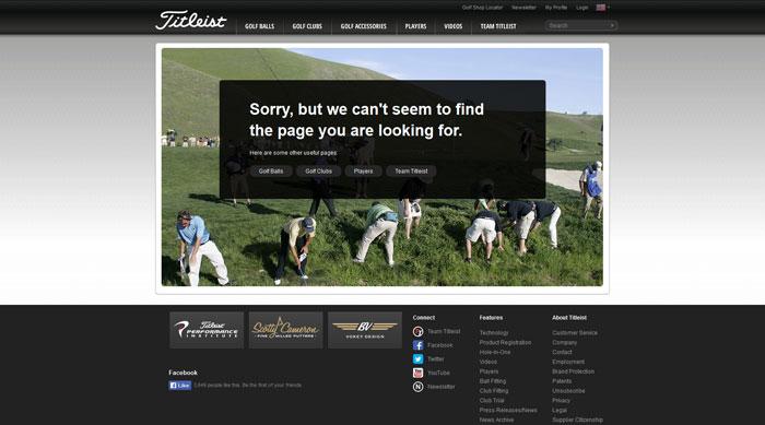titleist.com 404 error page