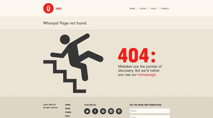 trufcreative.com 404 error page
