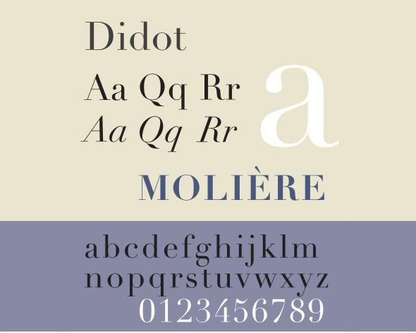 Didot is a modern font