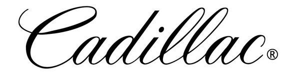Cadillac logo using script font