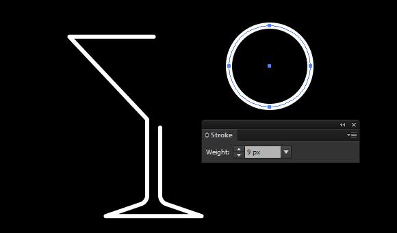 martini glass vector