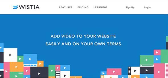 Wistia flat web design