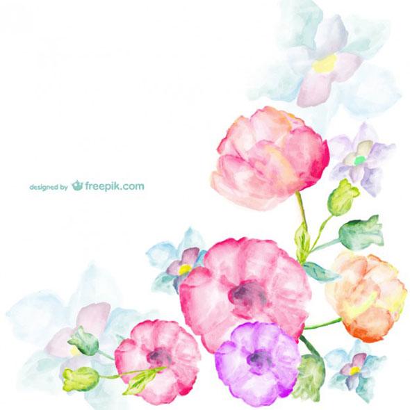 Акварель цветы png