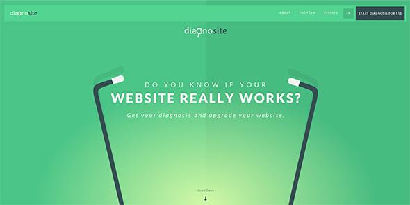 Свежие зеленые оттенки в веб дизайне