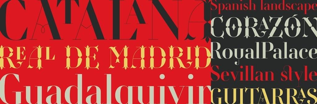 Some headings demonstrating the Retiro font.