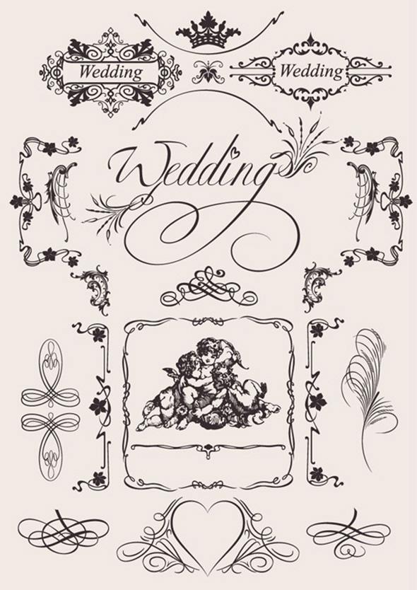 Клипарт свадебный вектор