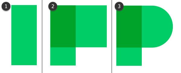 Draw a bright green P