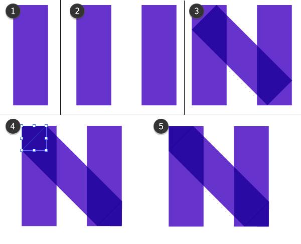 Draw the purple N