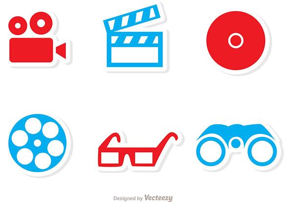 Cinema Icon Vectors Pack 1