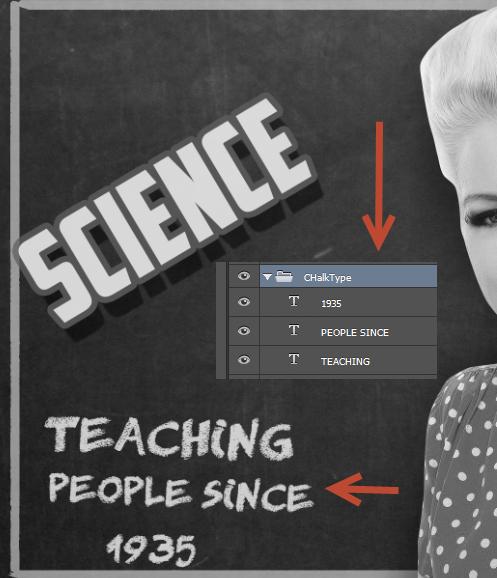 Create a Retro Chalkboard Scene in Photoshop 10