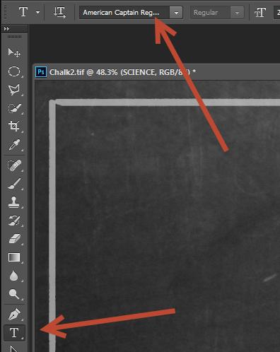 Create a Retro Chalkboard Scene in Photoshop 7