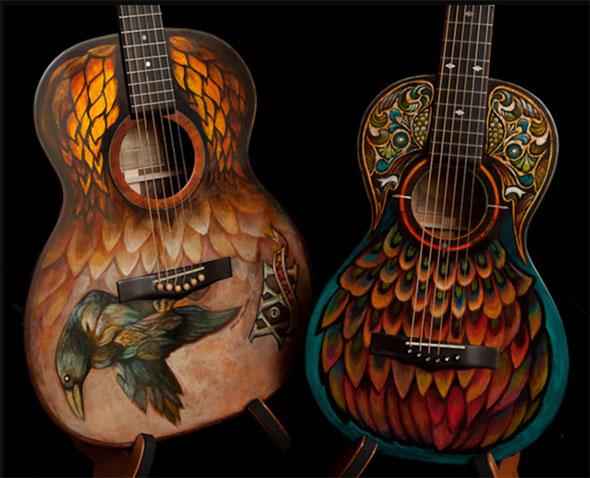 Роспись акрилом на гитарах