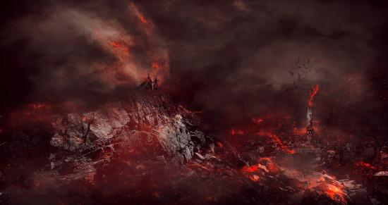 burning-ancient-city-flatten