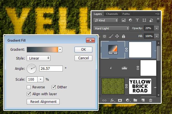 Gradient Fill Adjustment Layer