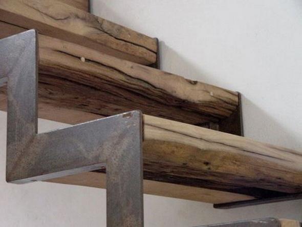 Лестница металл дерево своими руками