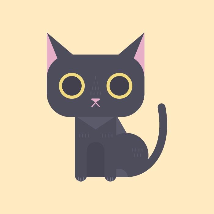 15-black-cat-character