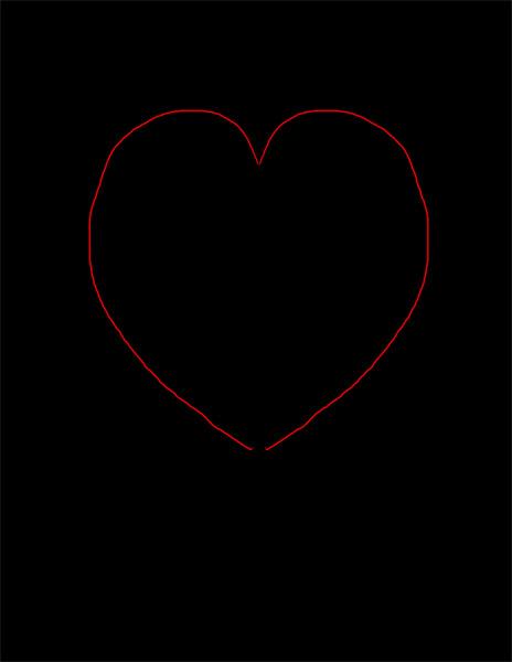 Sketch a heart