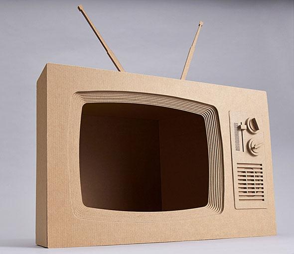 Как из картона сделать телевизор