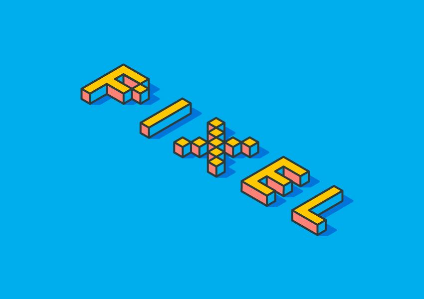 Isometric Pixel Text Effect Adobe Illustrator Tutorial