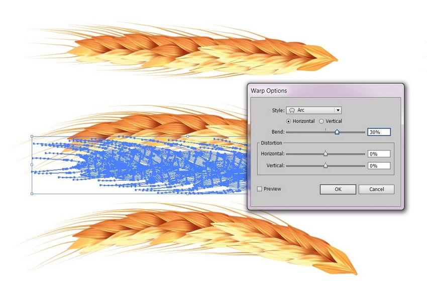 warp the grain
