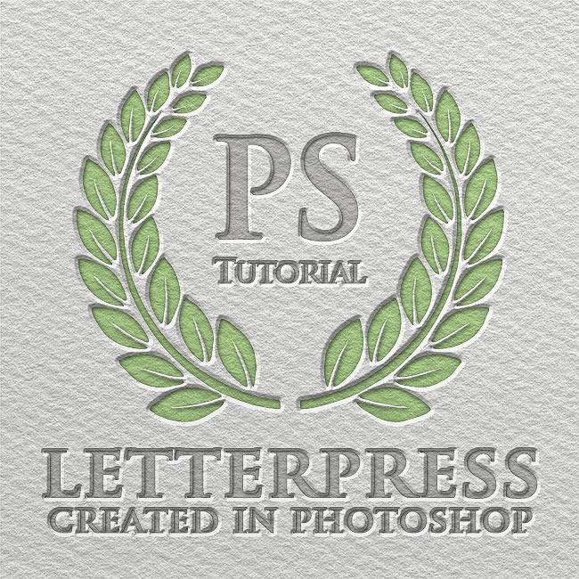 letterpress text effect photoshop tutorial