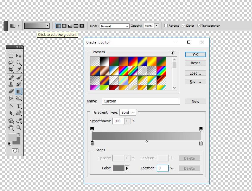 Edit the Gradient Colors