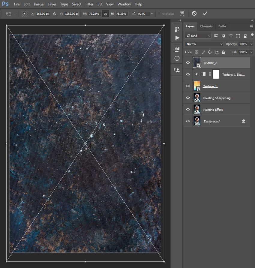 Placing texture