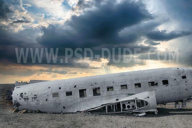 airplane crash ruin