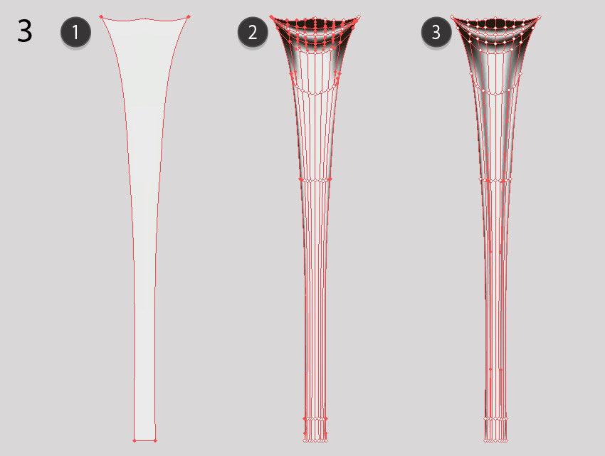 glass leg mesh