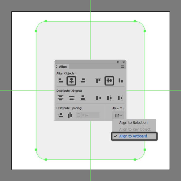 create corner radius and align