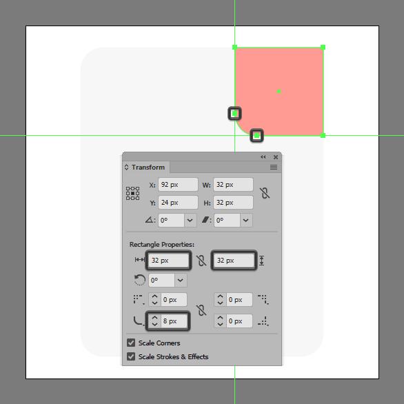 add radius to rectangle