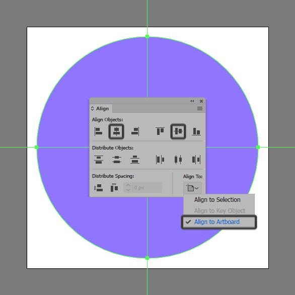ellipse tool venter align